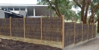 Perimeter fencing using natural bush fencing material